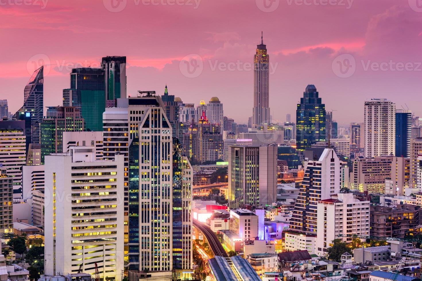 skyline van bangkok foto
