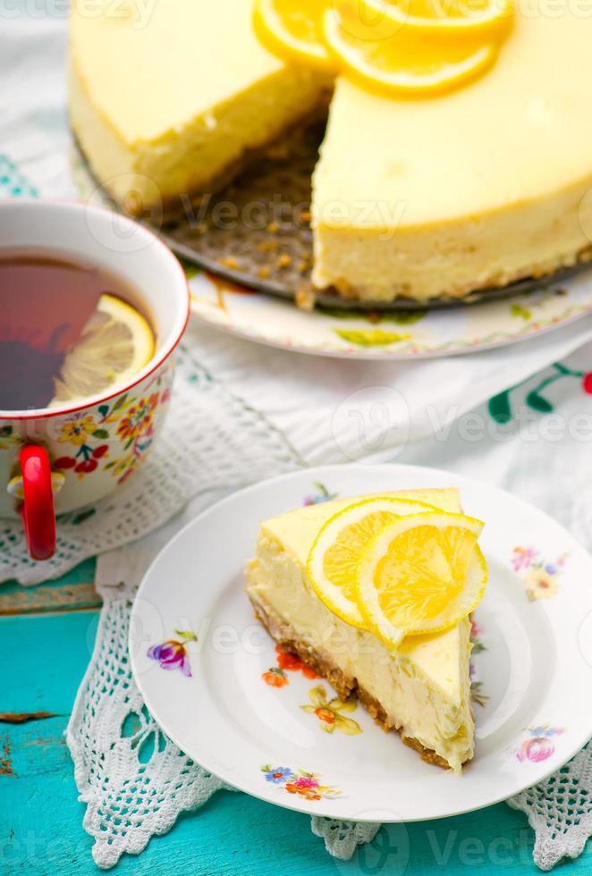 citroen cheesecake foto