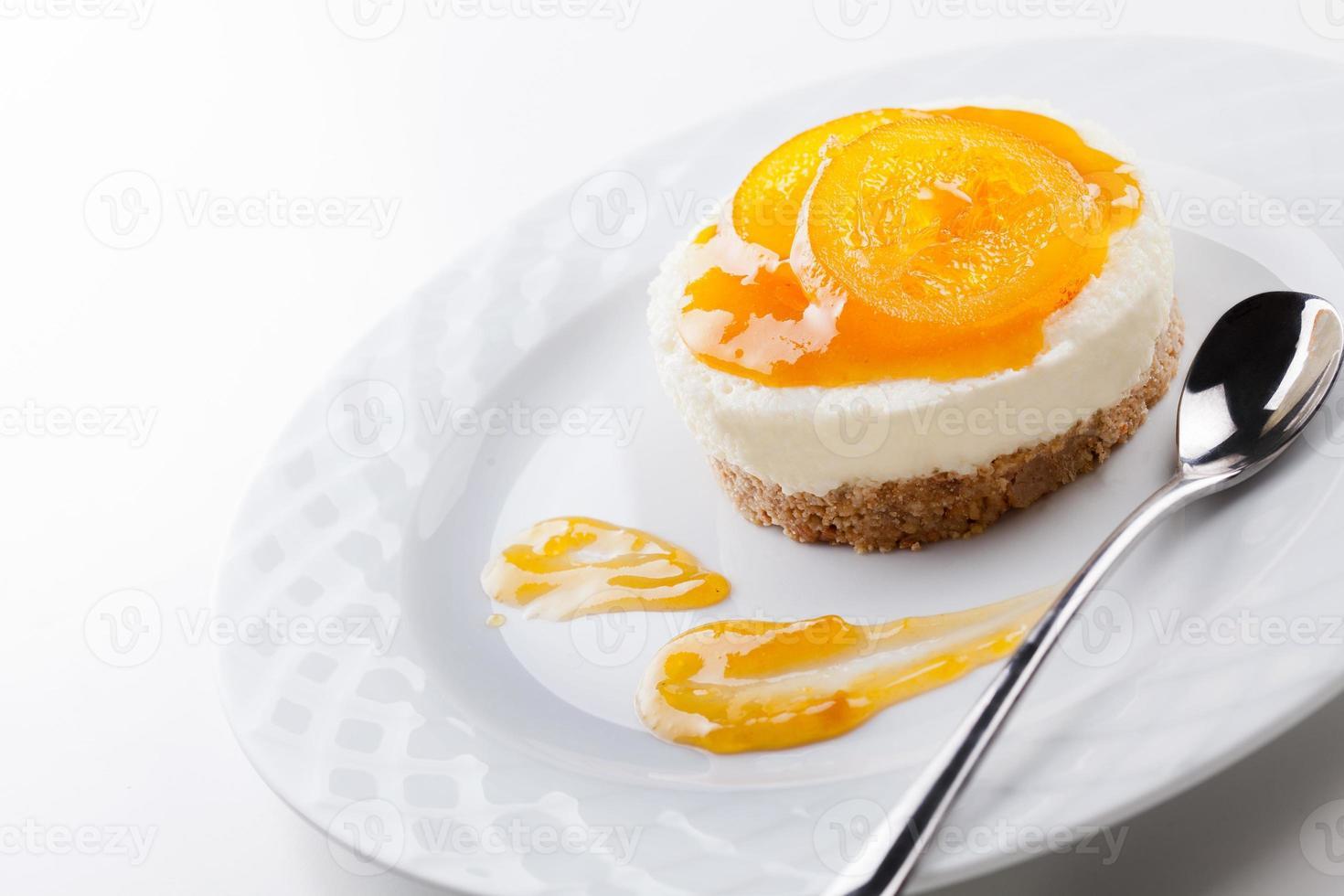 room en sinaasappeltaart foto