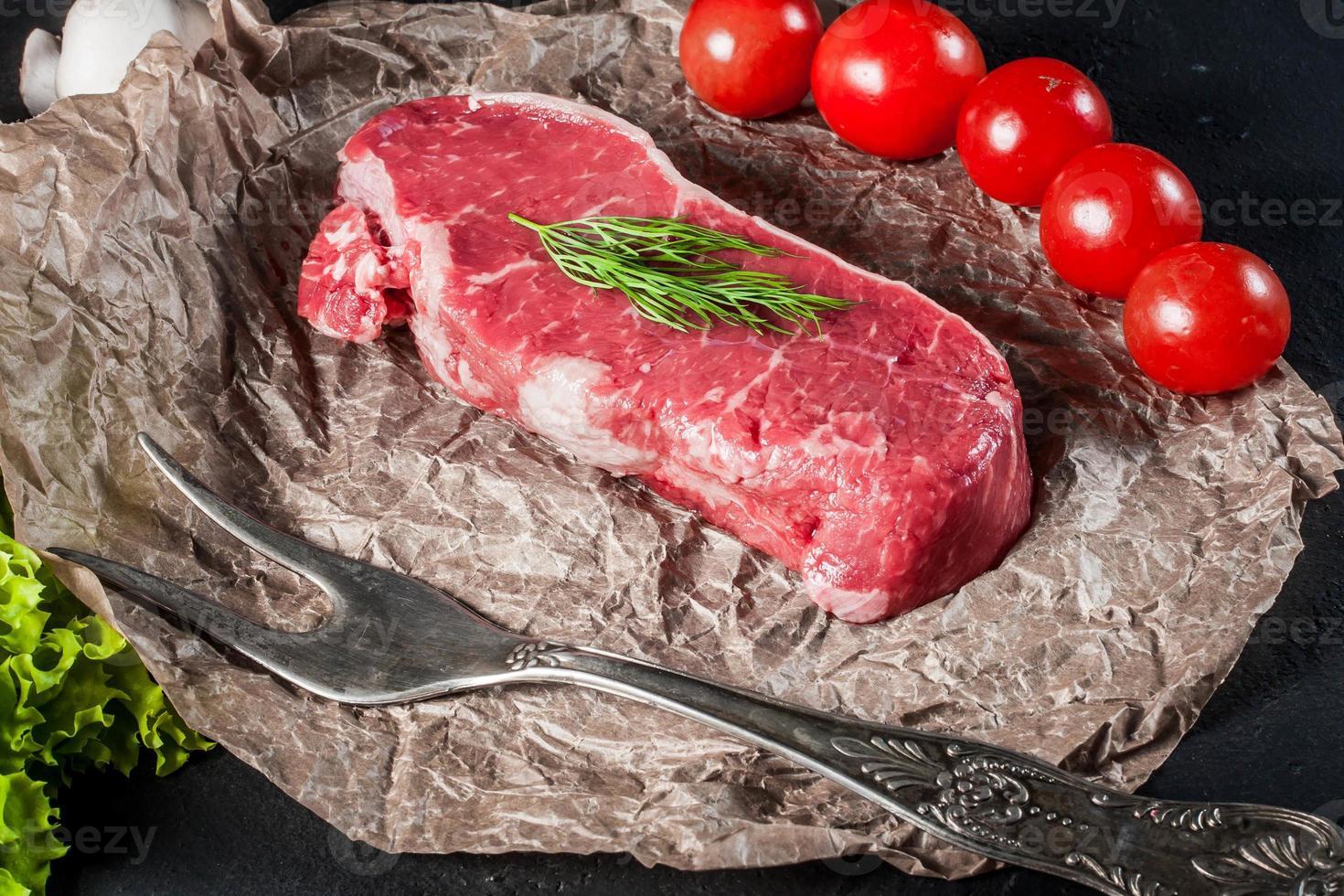 rauwe biefstuk. foto