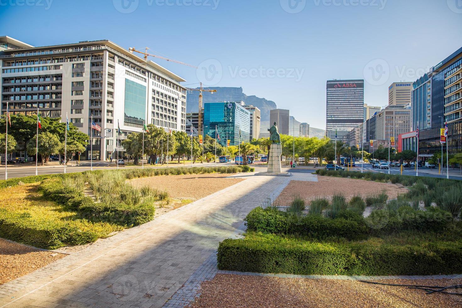 het stadscentrum van Kaapstad - Zuid-Afrika foto