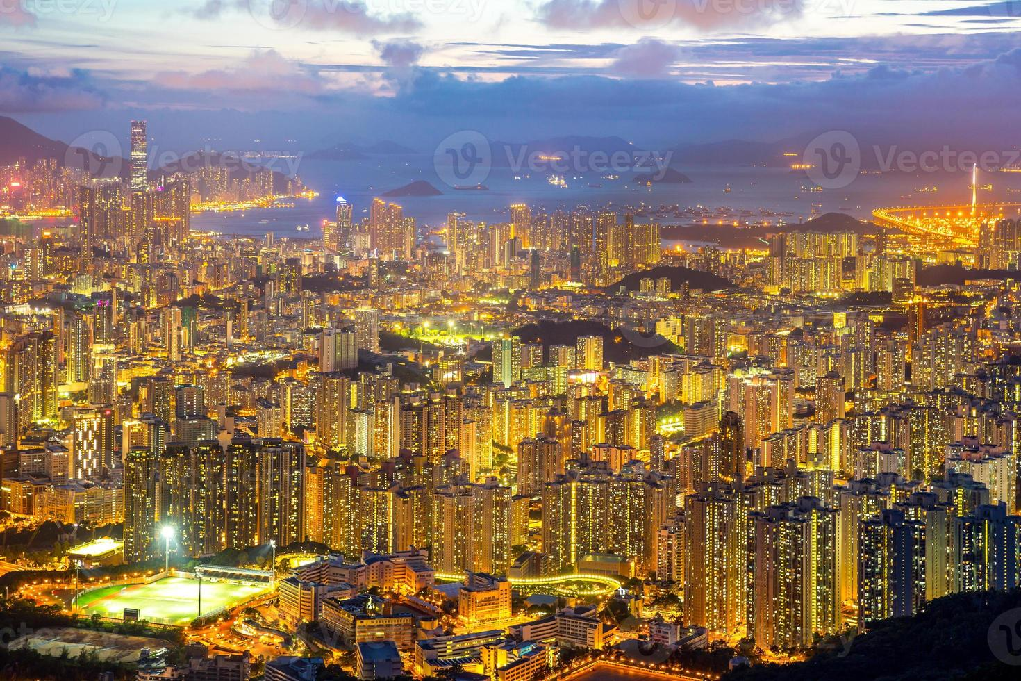 hong kong skyline kowloon foto