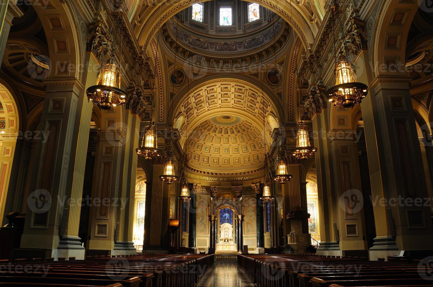 historische kathedraal basiliek van de heiligen peter en paul - Philadelphia foto