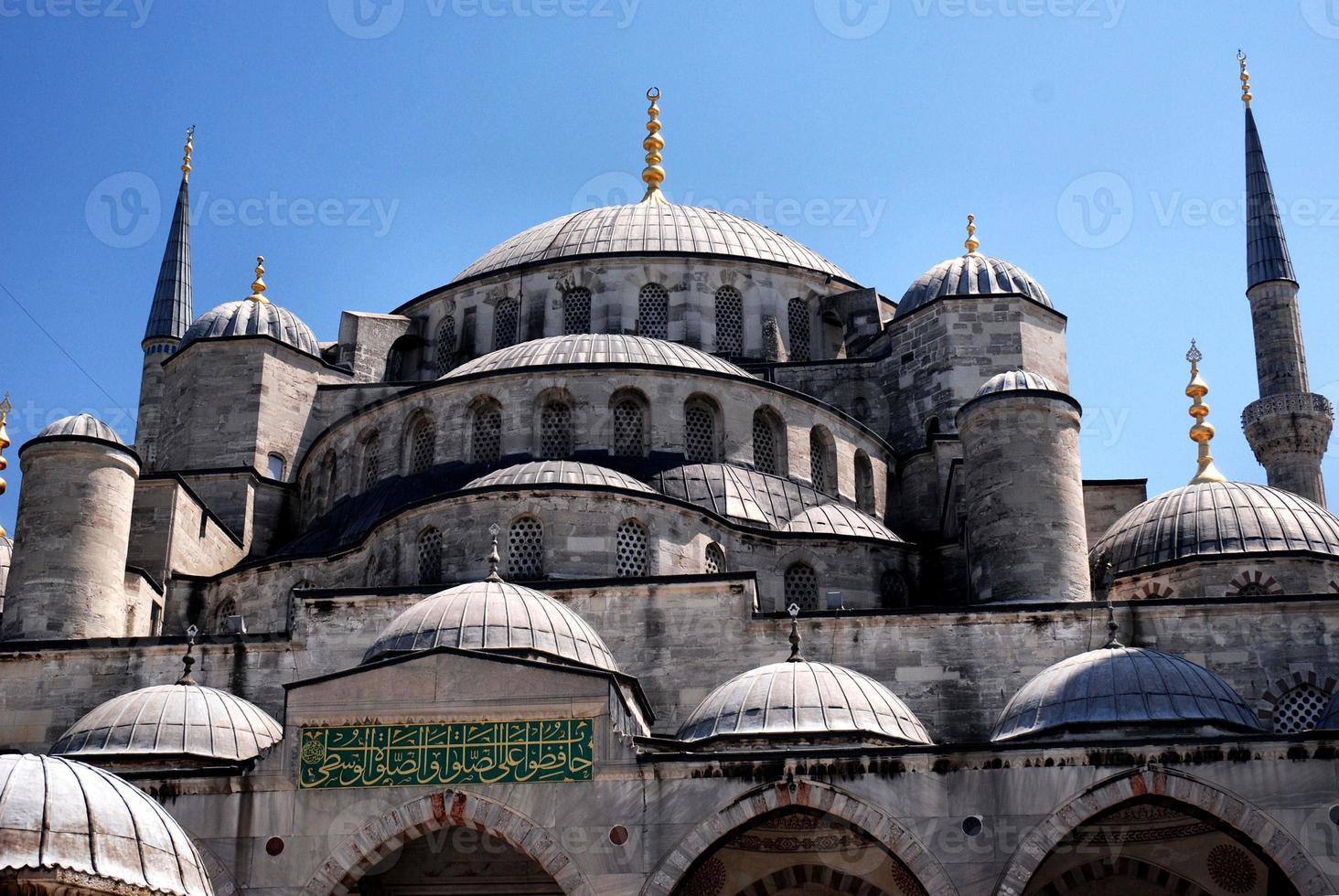 de blauwe moskee in istanbul, turkije foto