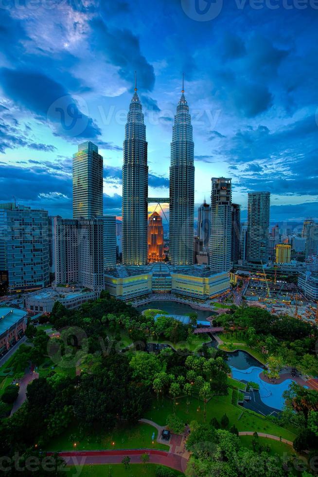 skyline van Kuala Lumpur foto