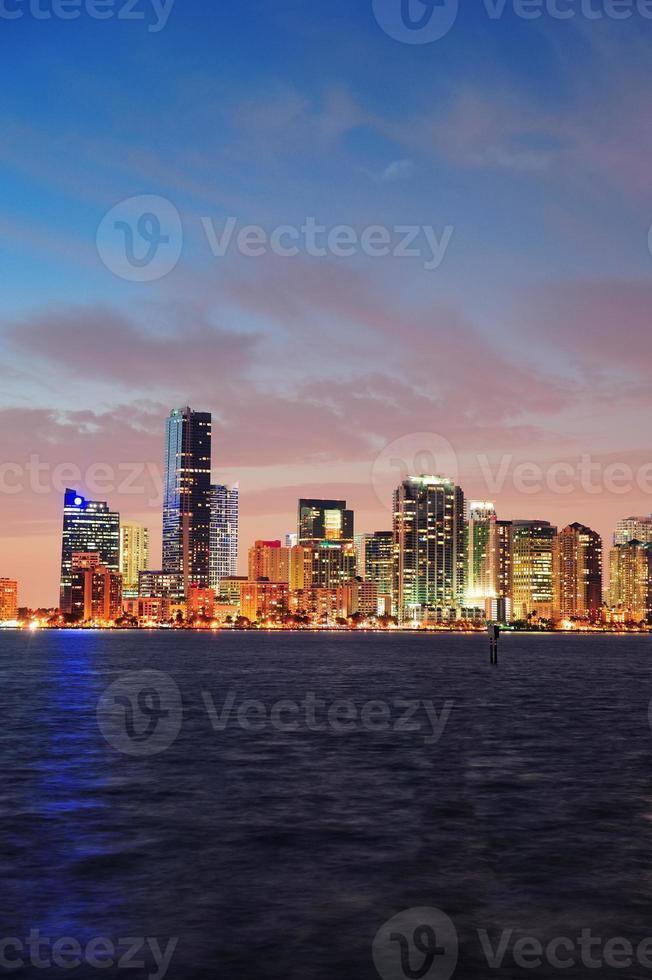 Miami nachtscène foto