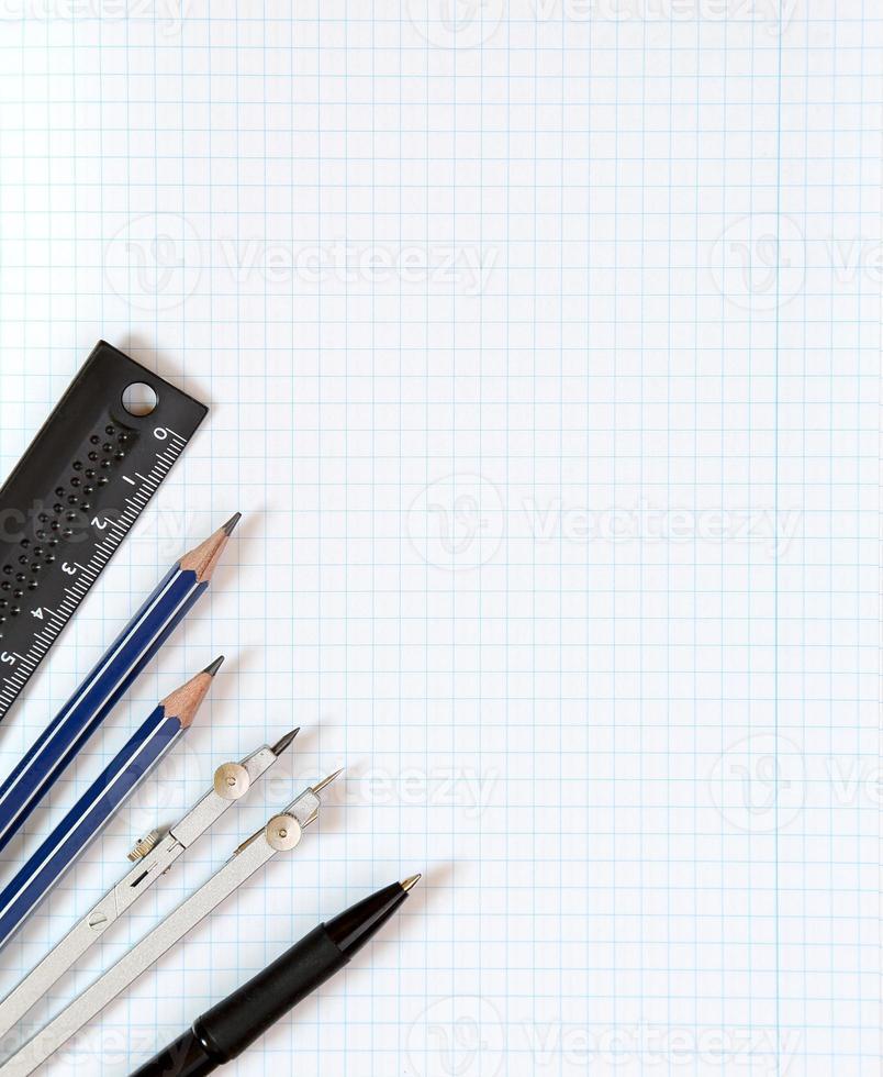 achtergrond - tekengereedschappen foto