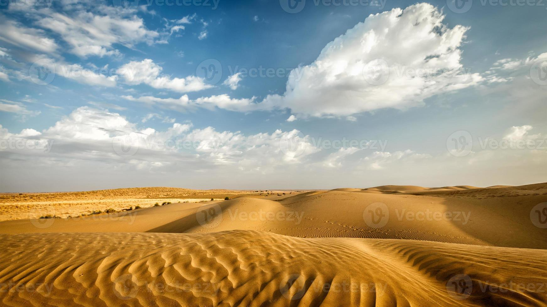 duinen van thar woestijn, rajasthan, india foto