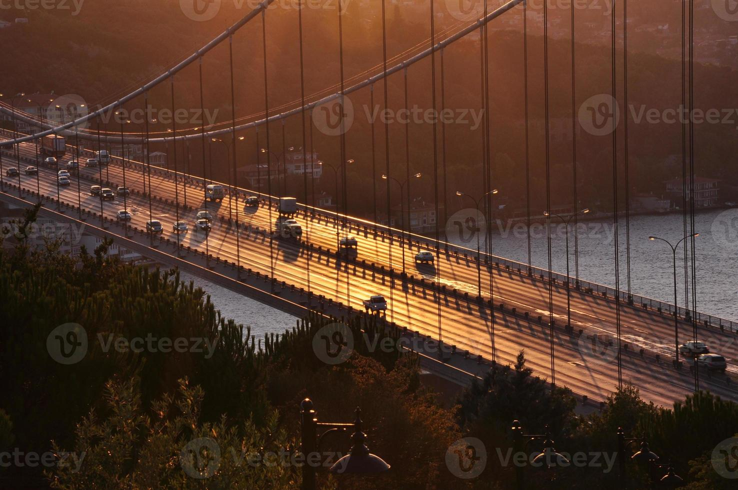 Bosporus van otagtepe uitzicht foto