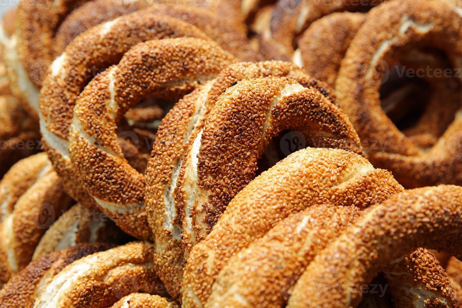 Turkse bagel, simit foto
