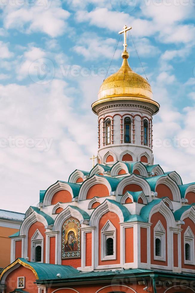 Kazan kathedraal in Moskou, Rusland foto