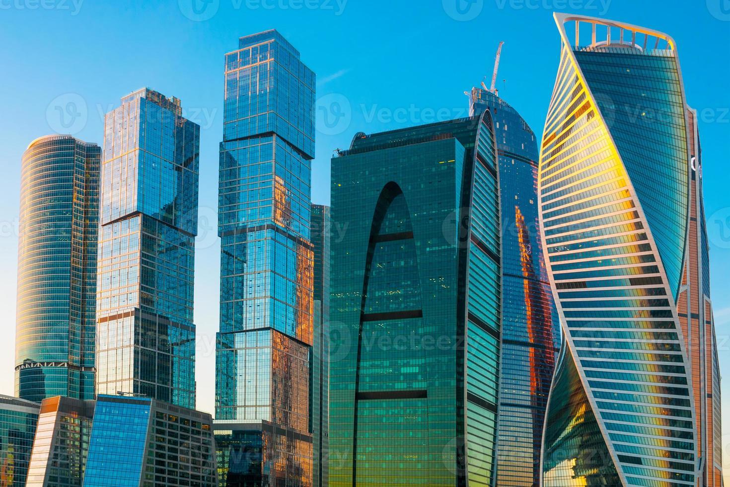 moderne wolkenkrabbers van de stad Moskou, Rusland foto
