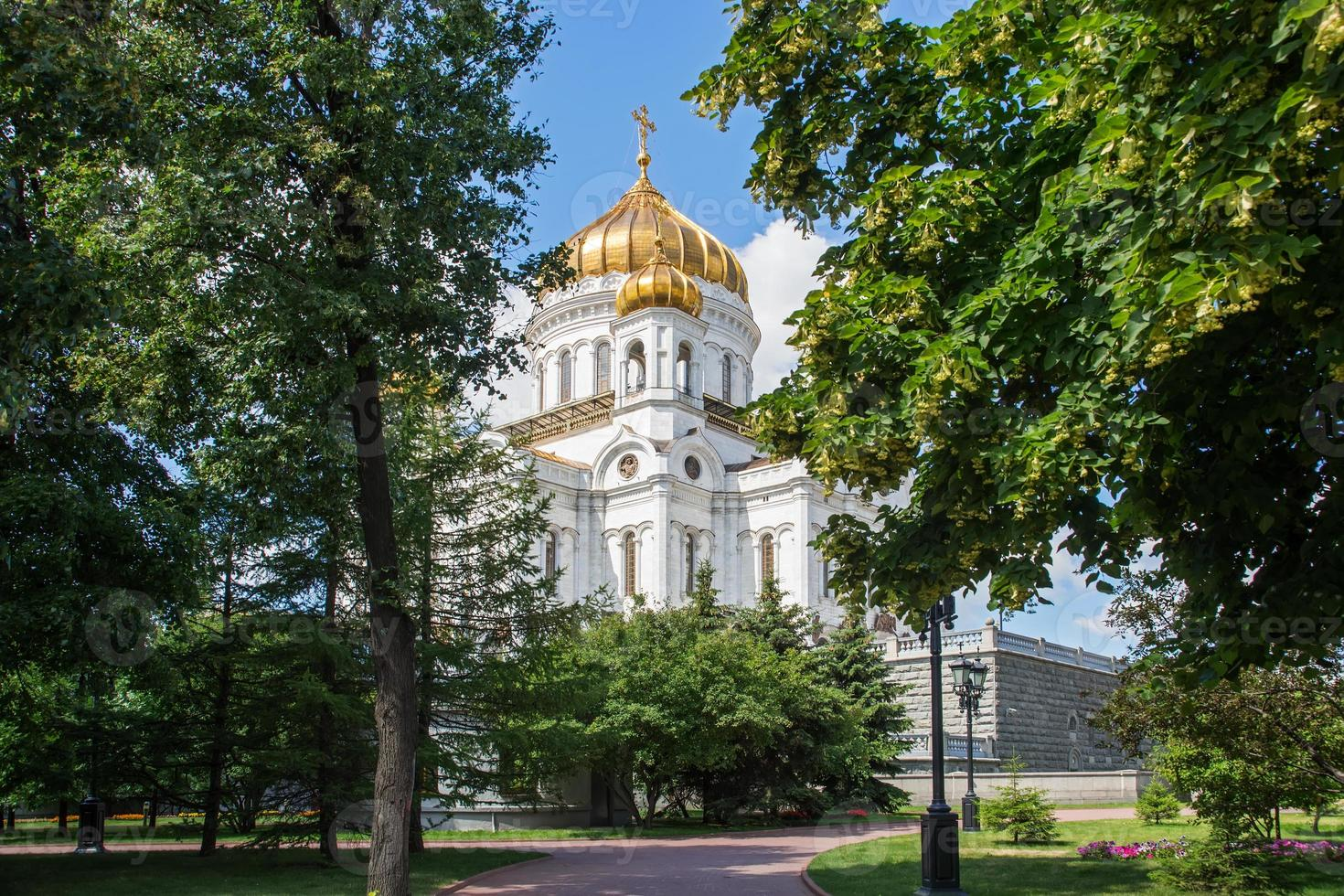 kathedraal van Christus de Verlosser, Moskou, Rusland foto