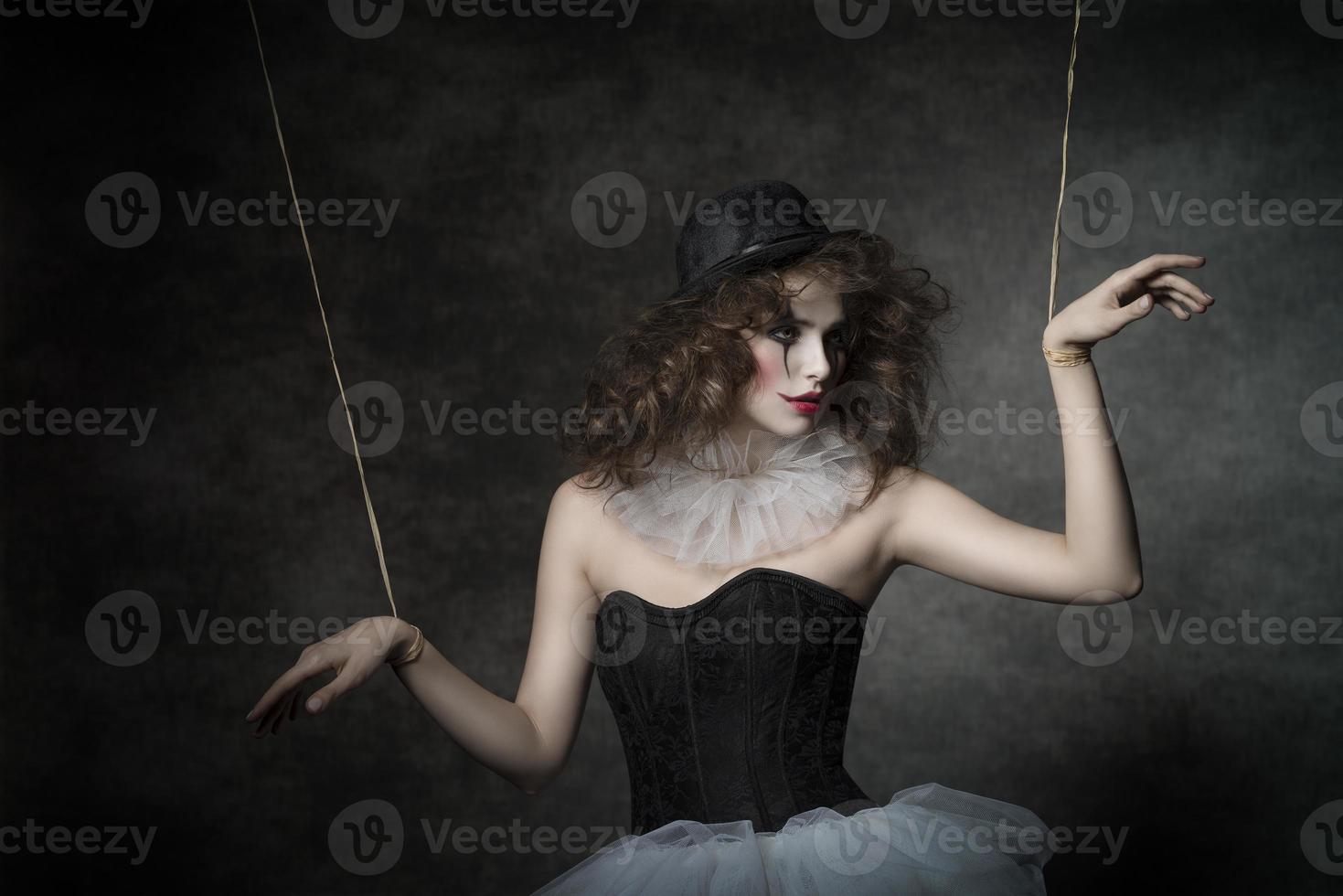 sensuele clownpop vrouw foto