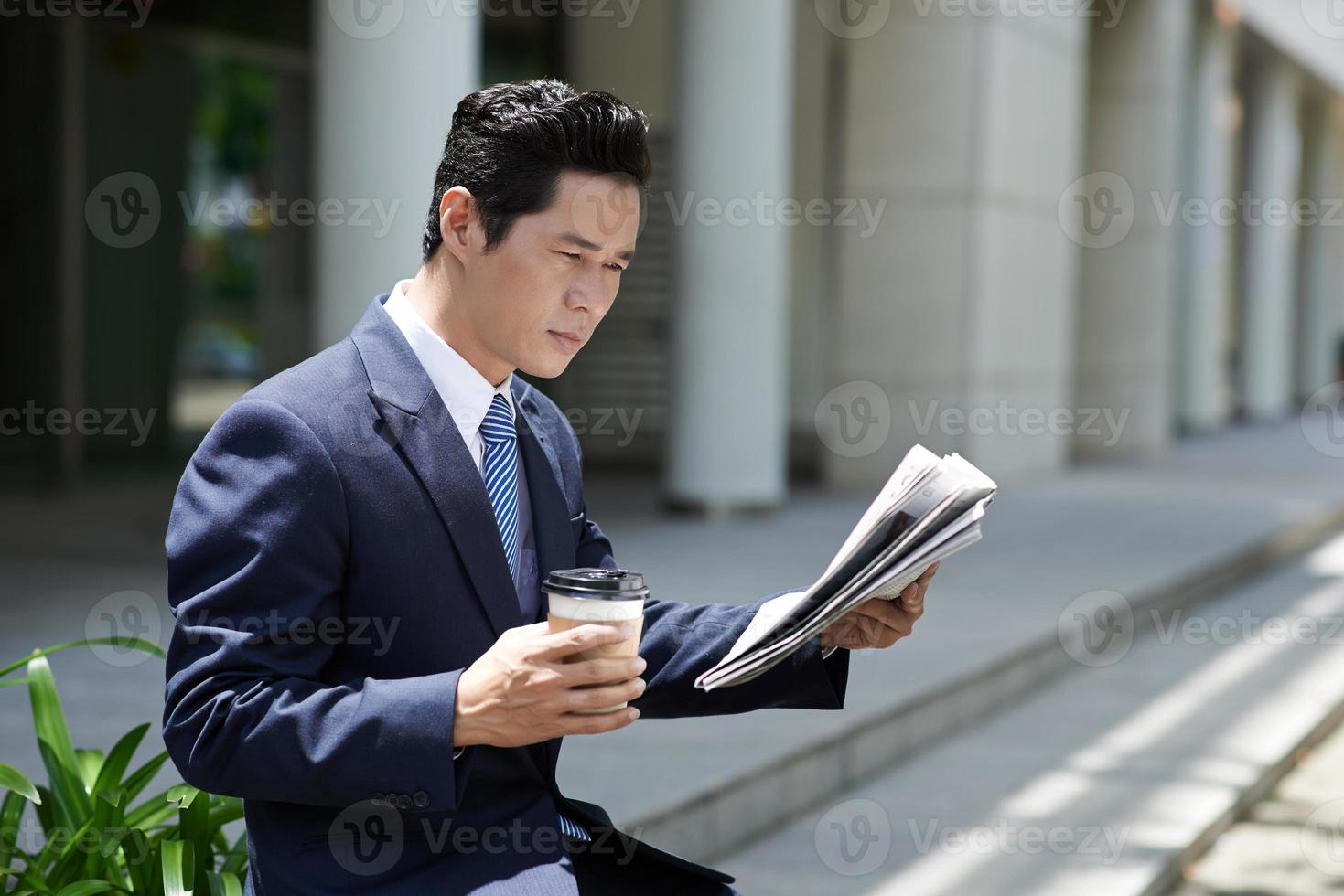 ochtend van een zakenman foto