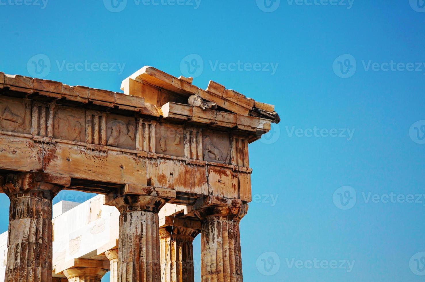 parthenon op de Akropolis in Athene, Griekenland foto