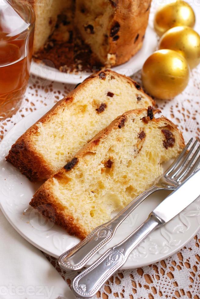 panettone Italiaans dessert foto