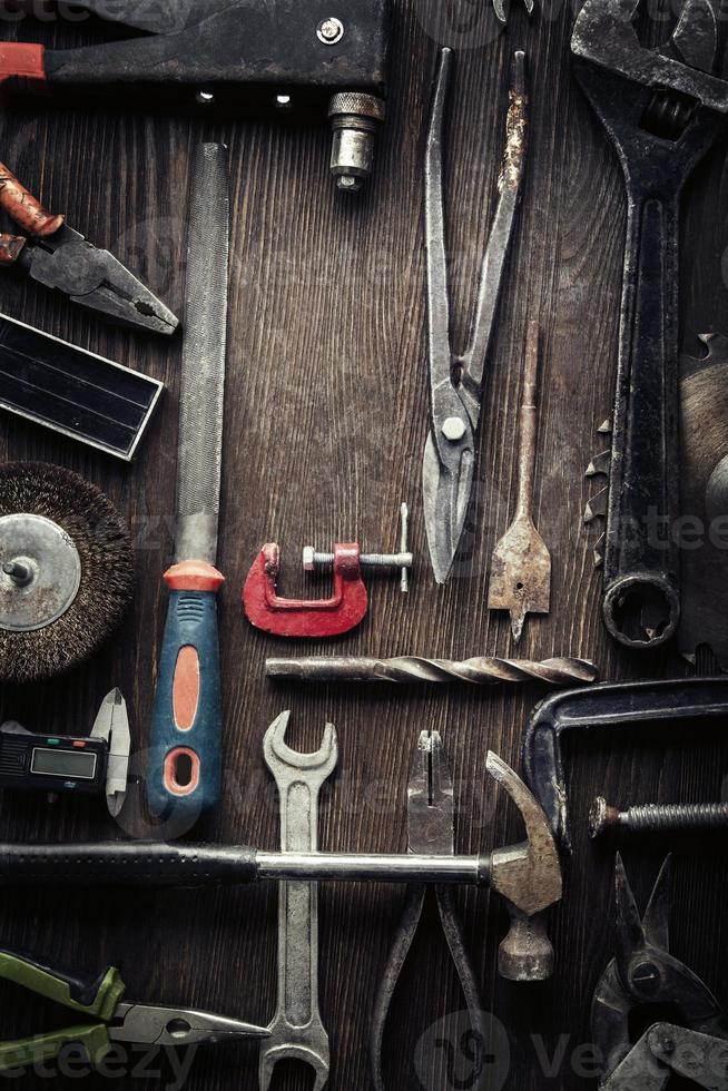 grungy oude tools foto