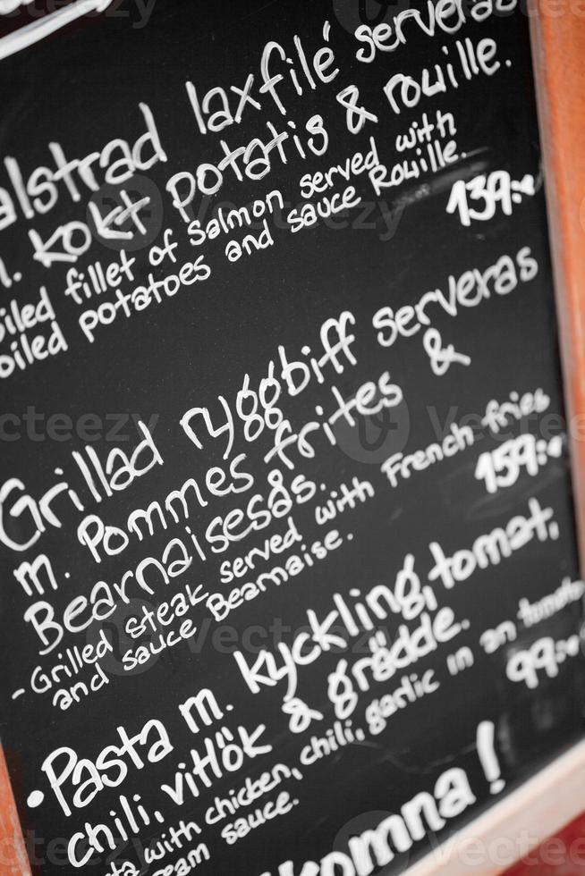 Zweeds menu foto