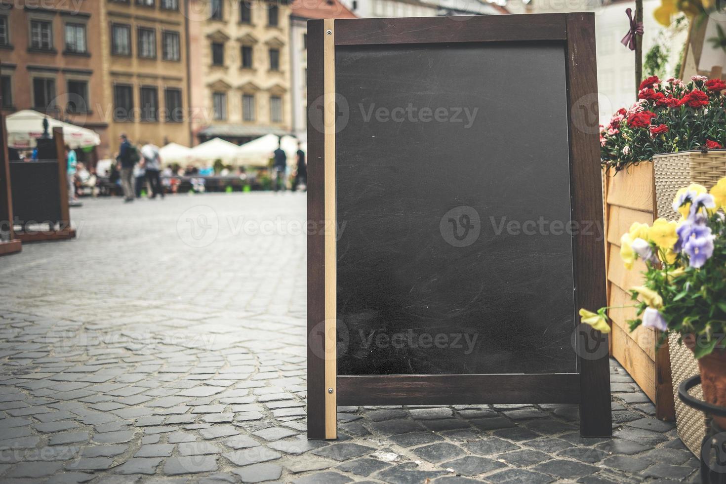 menu reclamebord foto