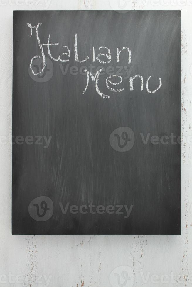 schoolbord Italiaans menu foto