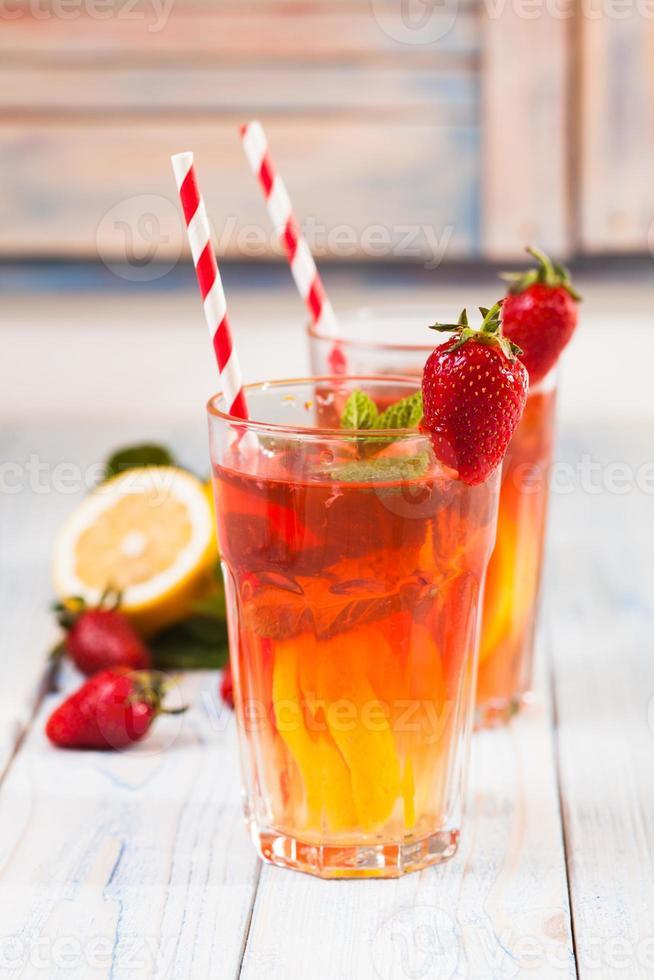 aardbeien limonade foto