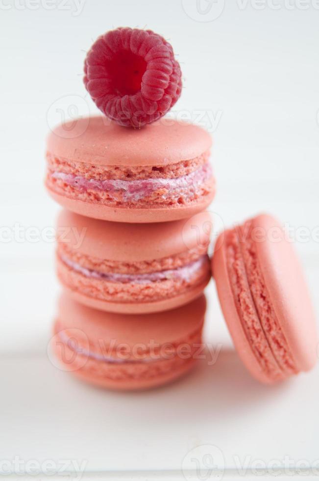 macarons met frambozen foto