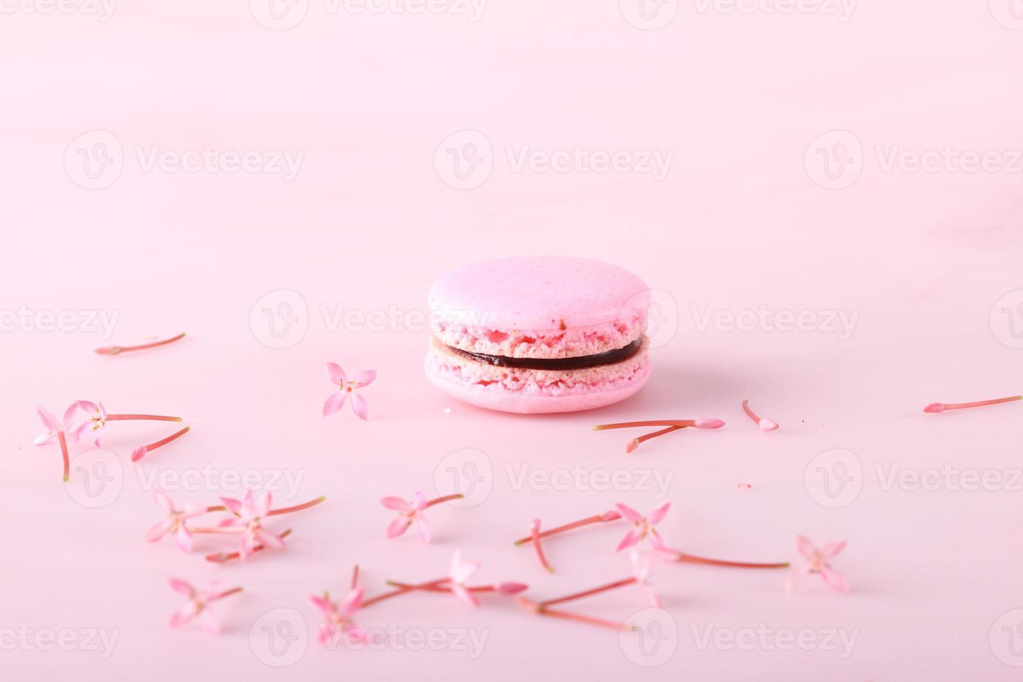 lekkere roze macaron foto