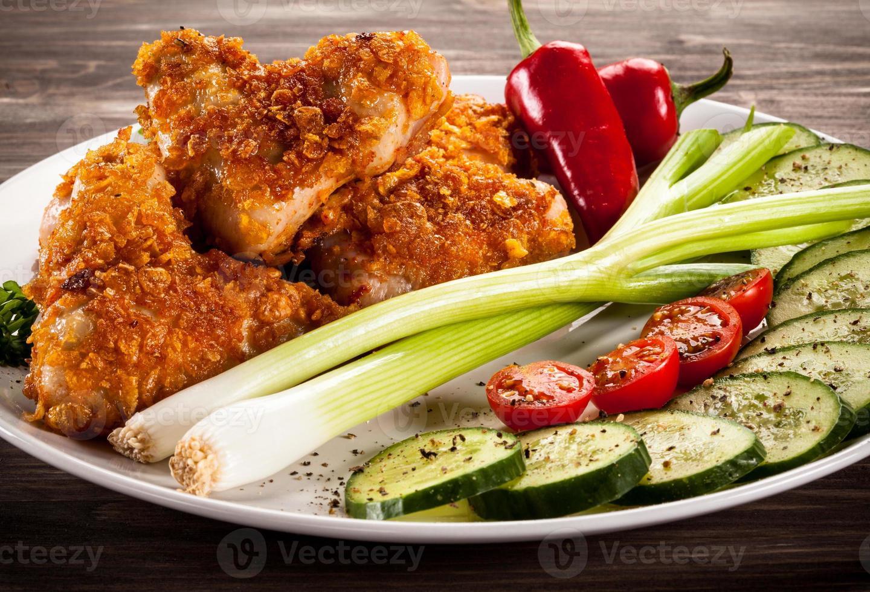 kipnuggets en groenten foto