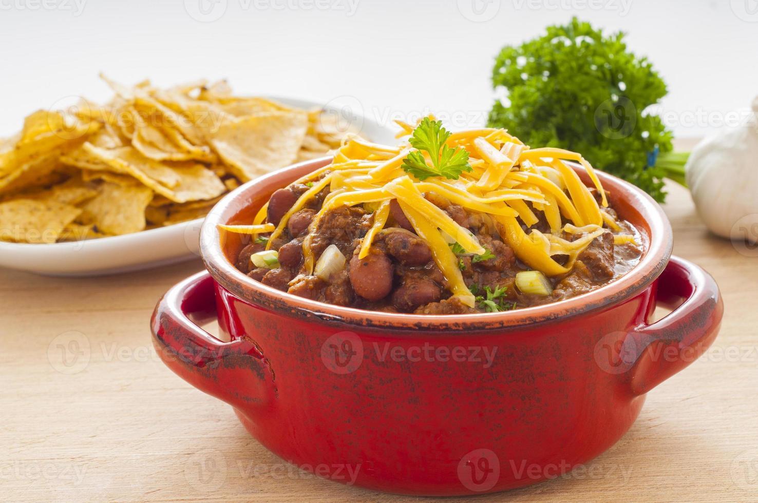 pittig chili-diner foto