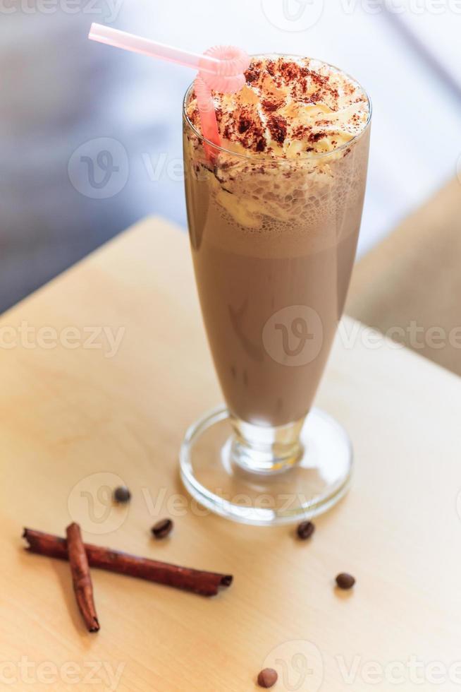 chocolade milkshake foto