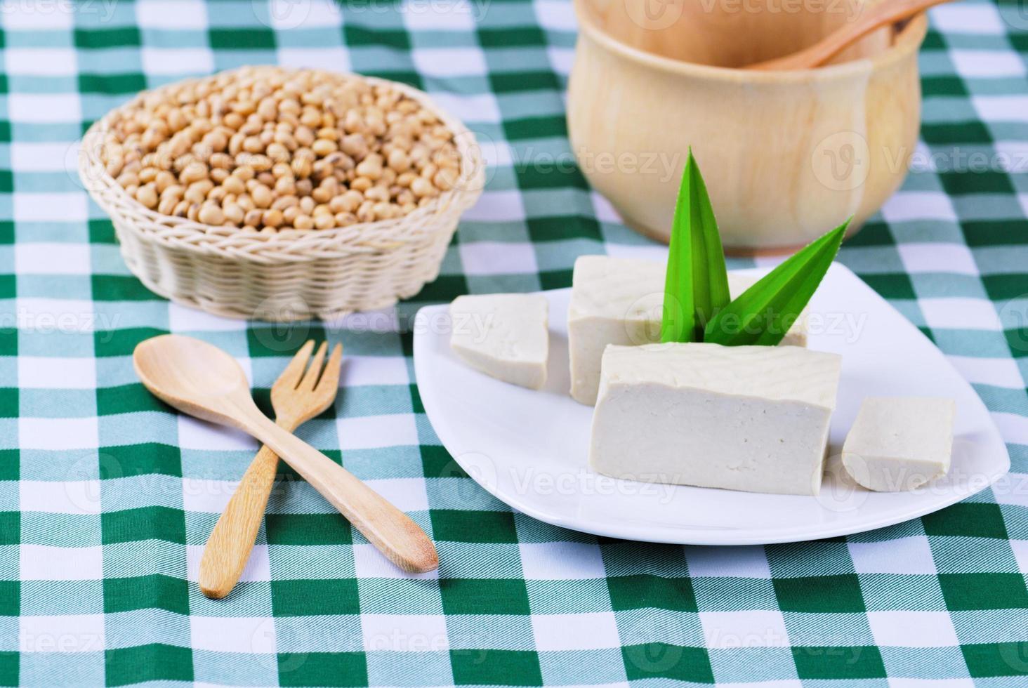 tofu en sojabonen foto