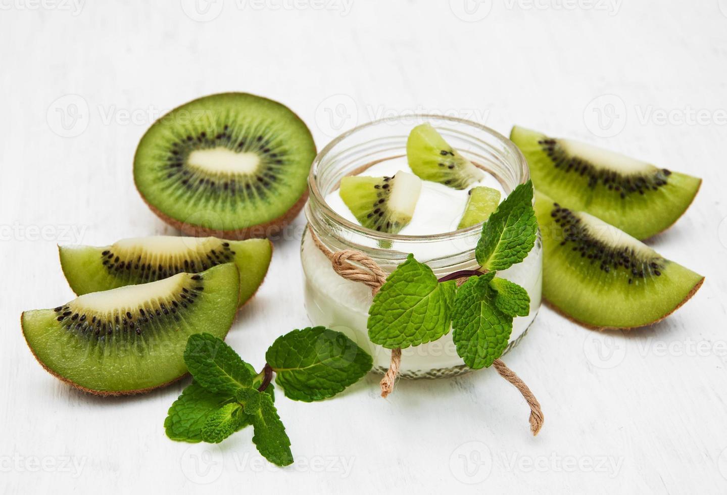 kiwi yoghurt foto
