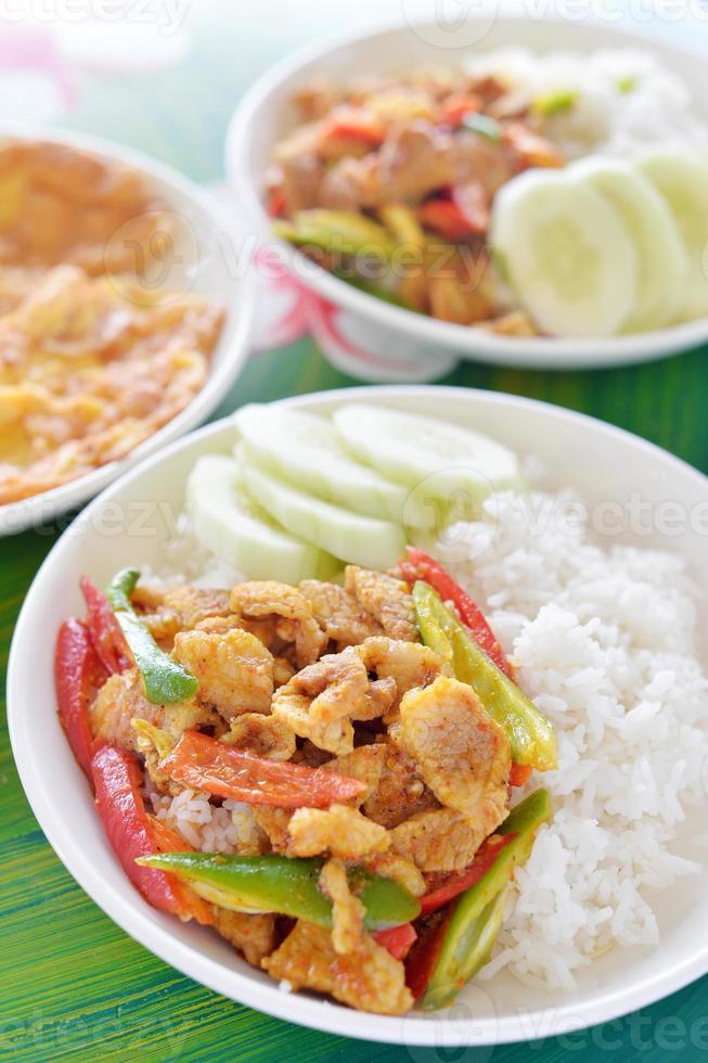 varkensvlees chili curry foto