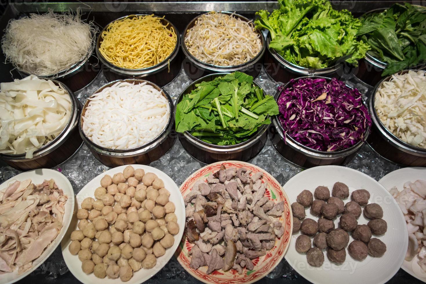 ingrediënt voor Cambodjaanse en Thaise noedels foto