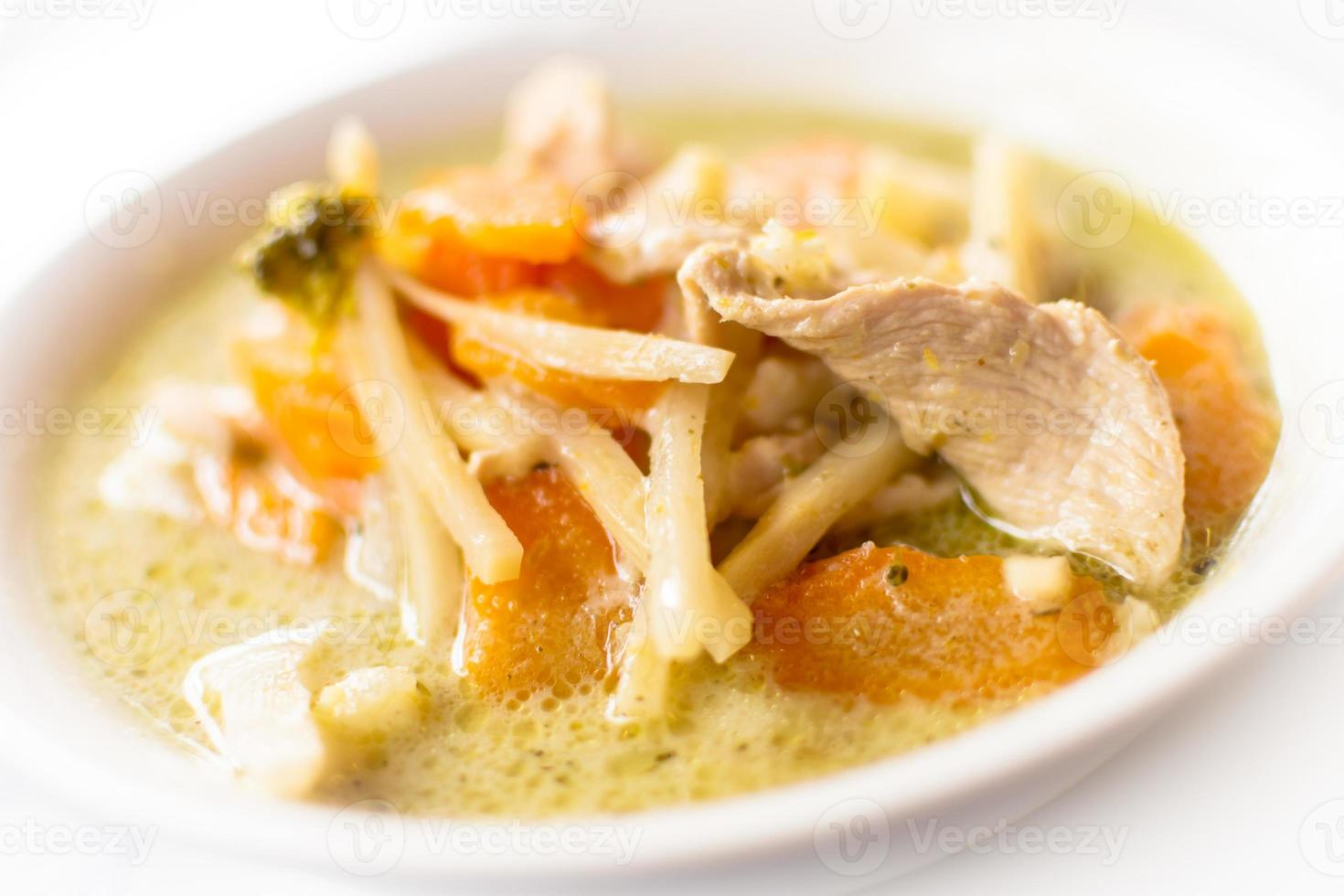 Thaise groene curry kip foto