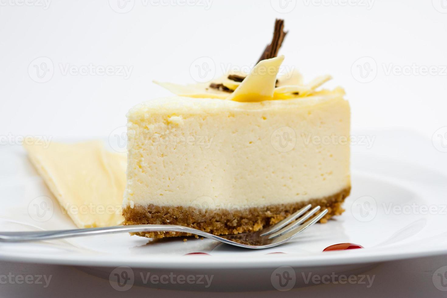 cheesecake met witte chocolade foto