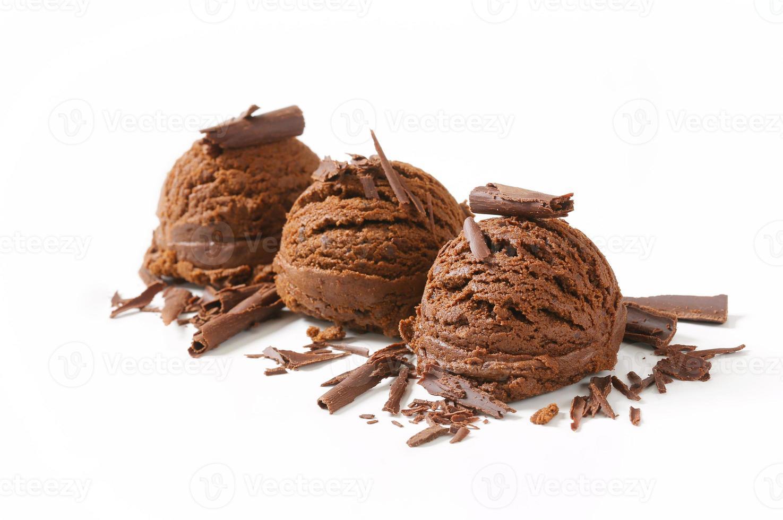 chocolade-ijs foto