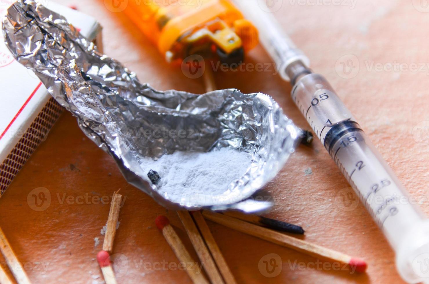 gekookte heroïne foto