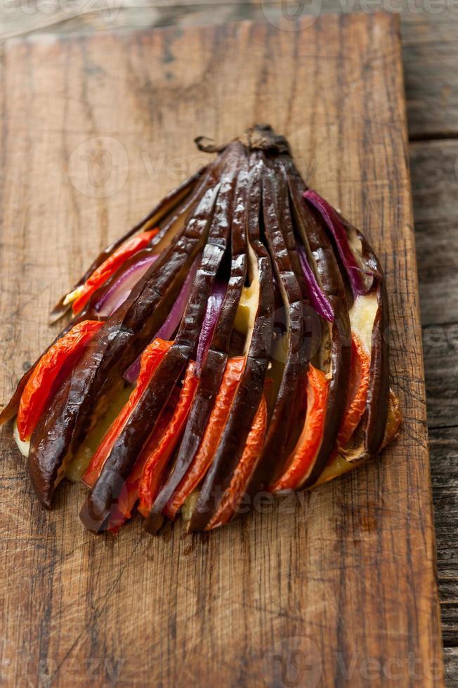gebakken aubergine foto