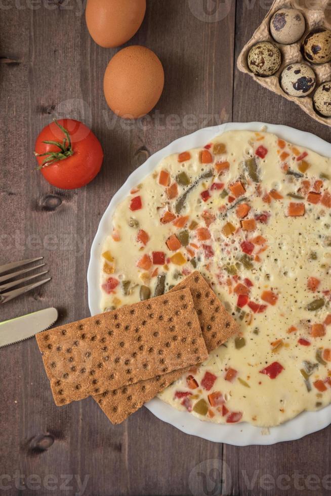 gebakken omelet foto