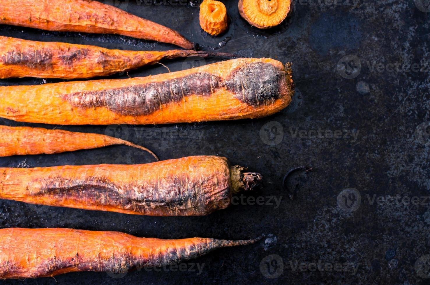 gebakken wortels foto
