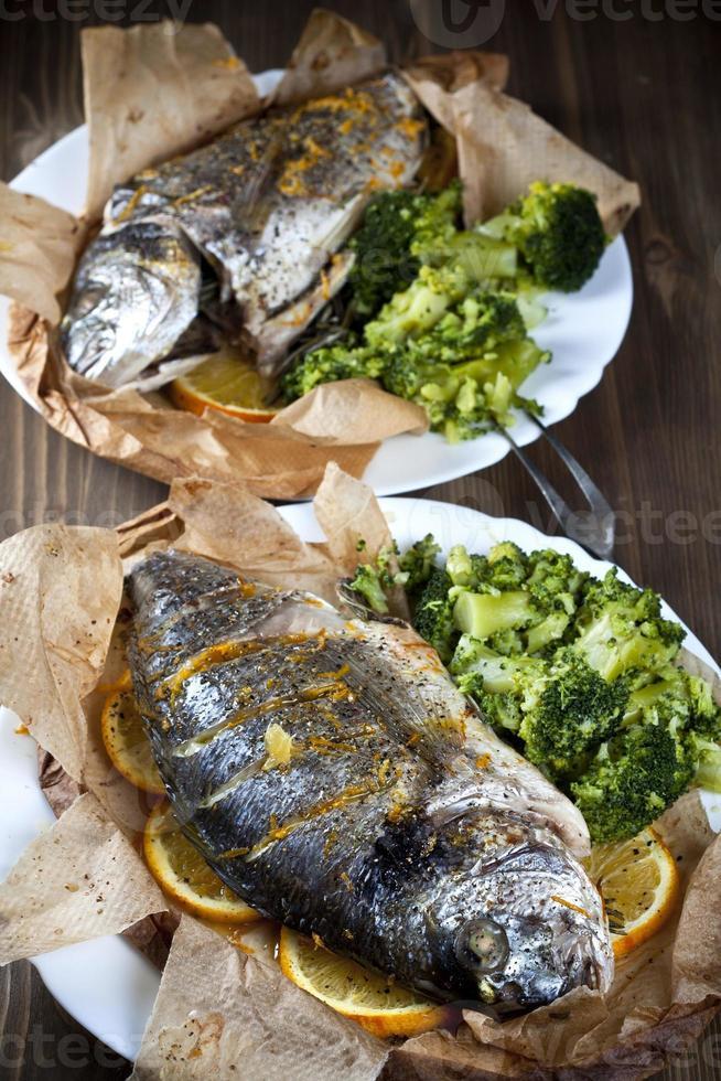 gebakken vis foto