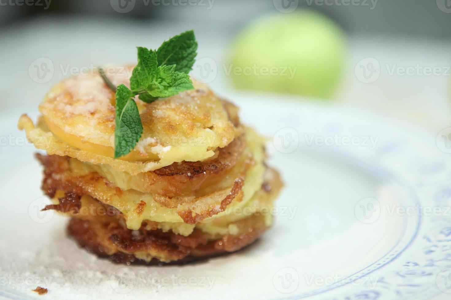 gebakken appel foto