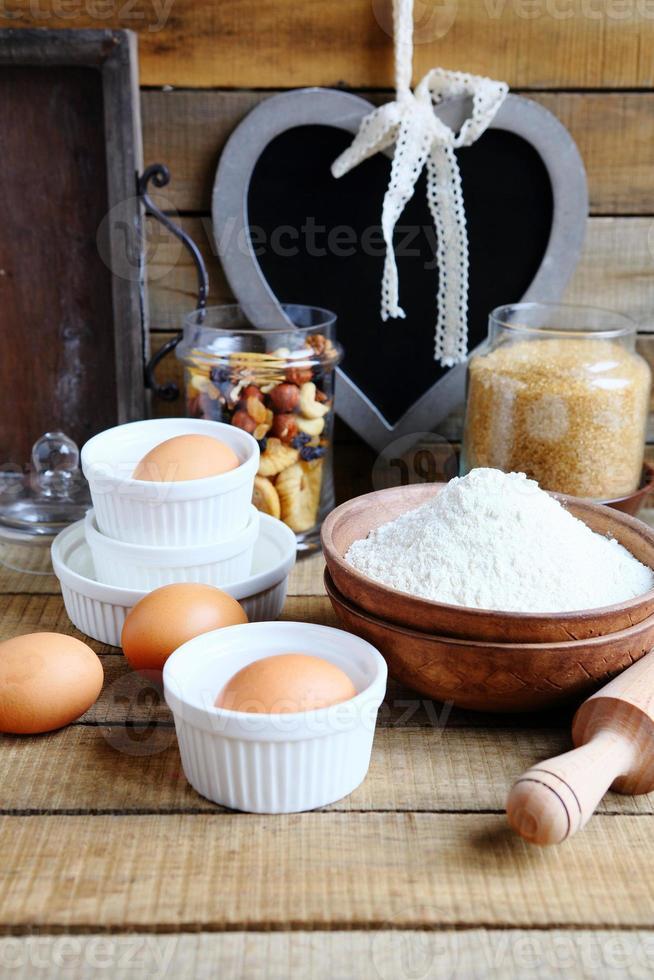 ingrediënten voor het bakken foto