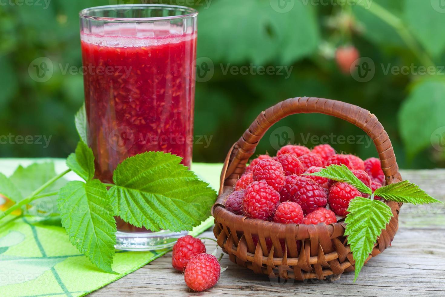 frambozen gezonde smoothie foto