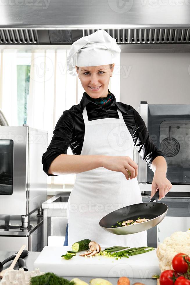 vrouw chef foto