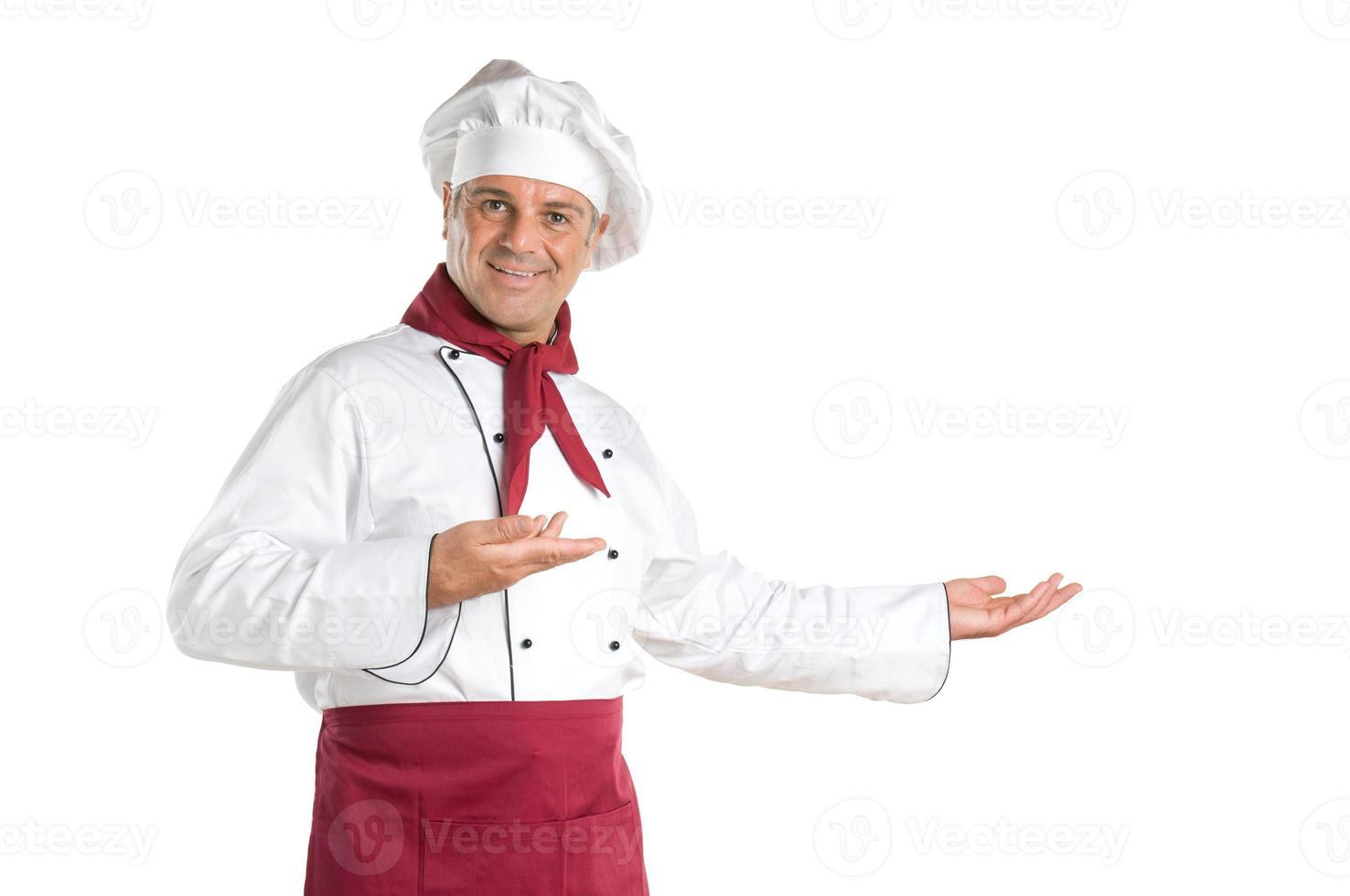 volwassen chef-kok tonen foto