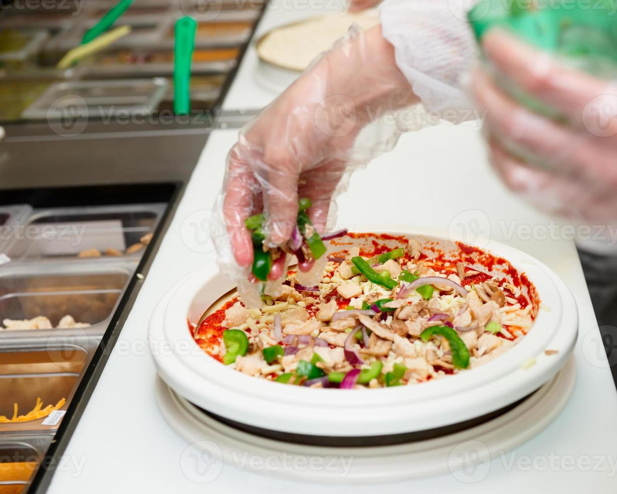 pizza makers bij kitc hen foto