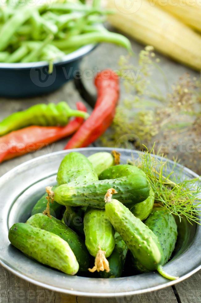 komkommer gebeitst foto